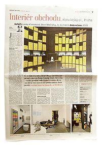 Newspaper Lidove noviny, CZ, 2011