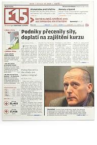 E15, Newspaper, CZ, 2009