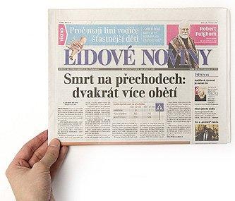 Lidove Noviny, newspaper, CZ, 2011