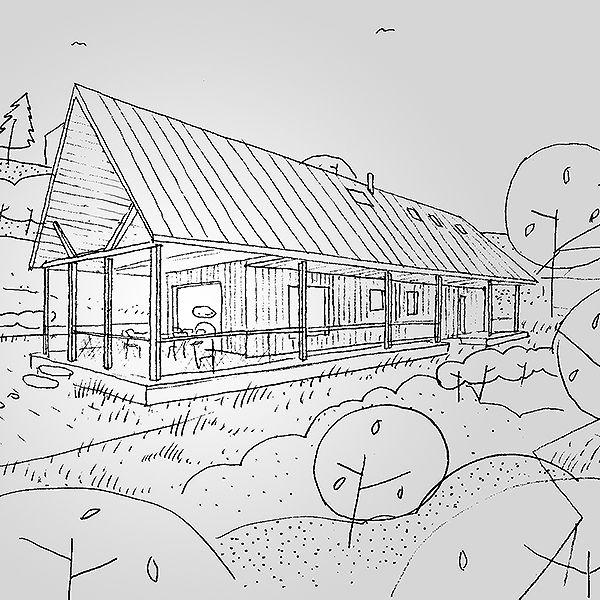 overhang house